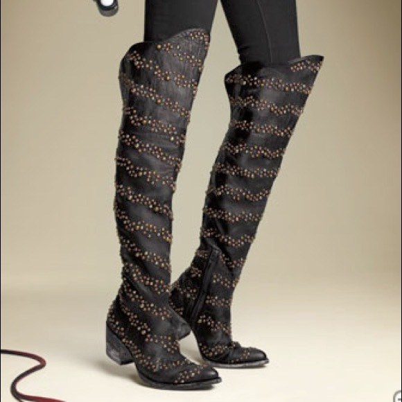 1eeb7cfa4d Old Gringo Shoes | Studded Over The Knee Boots Size 35 | Poshmark